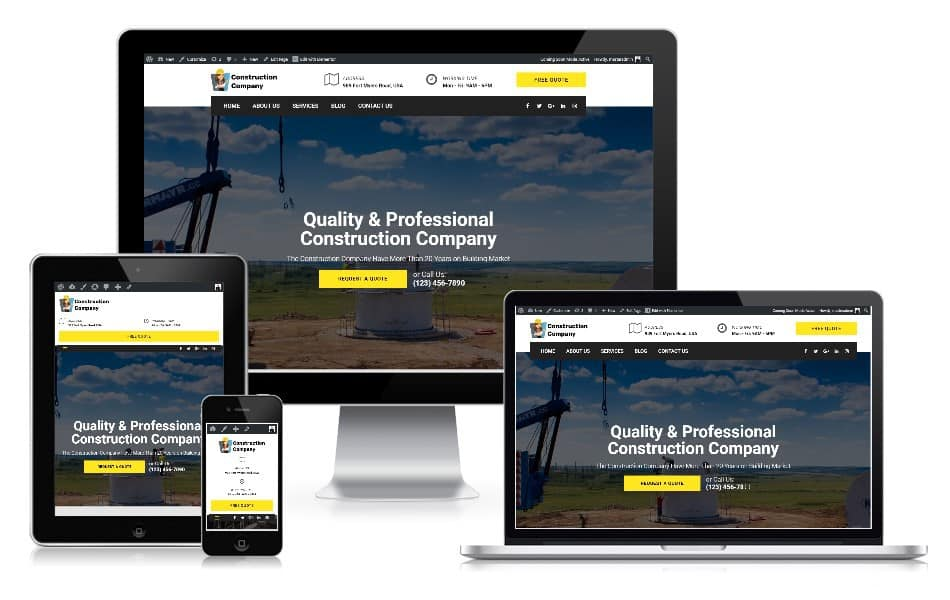 Webseite Baugeschäft